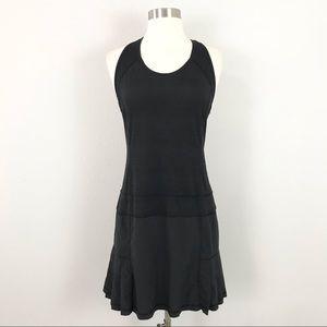 Athleta medium Tennis Dress Black Pleated Serve It Up